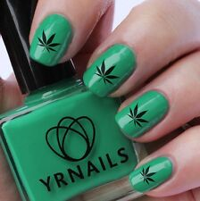 Nail WRAPS Nail Art Water Transfers Decals - Cannabis Leaf - S023