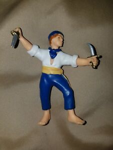 1999 Papo Blue and White Pirate with Knives - Good Condition! Toy Toys