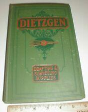1931 VTG Catalog Dietzgen Drafting Surveying Supplies tools instruments old Book