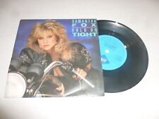 """SAM FOX - Hold On Tight - 1986 UK solid centre 2-track 7"""" single"""