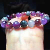 Natural Cacoxenite Colorful Auralite 23 Crystal Round Beads Bracelet 10mm AAA