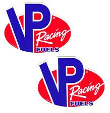 Vp Fuels Racing Decals Stickers Vinyl Small Body Blue Car Truck Window Set Of 2