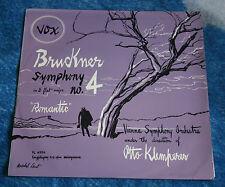 BRUCKNER / KLEMPERER SYMPHONY NO.4 'ROMANTIC' 1954 UK LP VOX  PL 6930 NM/VG+