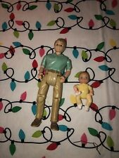 Fisher Price Loving Family Dollhouse Dad Holding Lifting Baby Action Figure 2008
