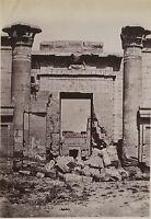 Egitto Medinet Habou Foto Albumina IN Piccolo Formato 9x13cm Ca 1880