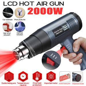 2000W Heat Gun DIY Electric 4 Nozzles Tool Hot Air Gun Paint Stripper Tool K