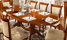 Esstisch Küchentisch Oval Ausziehbar Kreuzbeine Nussbaum Lackiert Made in Italy