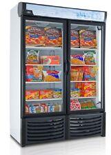NEW COMMERCIAL 2 GLASS DOOR DISPLAY FREEZER FOR FROZEN FOOD LED LIGHTS 120V