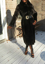 Full length Blackglama Natural Black Mink Fur coat jacket stroller S-M 4-10/12