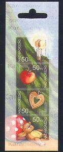 Hungary 2005 Christmas/Teddy Bear/Candle/Heart/Apple/Toys/Tree 4v bklt (n33695)