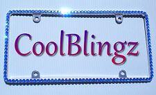 Thin ROYAL BLUE Rhinestone Diamond Crystal Bling License Plate (Metal) Frame