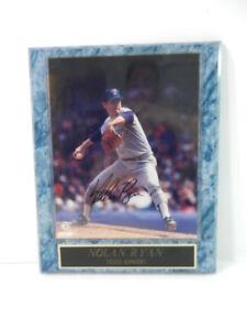 Nolan Ryan Texas Rangers 8 x 10 Photo Plaque Autographed MLB Photo File Cert