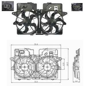 Dual Rad & Cond Fan Assembly Fits: 2005 Ford Escape - Mercury Mariner V6 3.0L