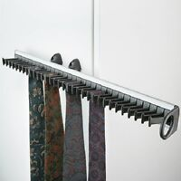 Pull out tie rack for 32 ties,  For screw mounting to wardrobe door, Extendable