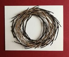 4 TWIG BRANCH WREATHS. USE ALONE OR TOGETHER. CARDS. EMBELLISHMENTS. SCRAPBOOKS.