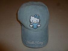 HELLO KITTY JEAN  SANRIO GIRL BASEBALL CAP lLIGHT BLUE DENIM 2003 HEART BEAR HAT