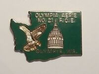 Fraternal Order of Eagles FOE 21 Olympia WA Aerie Enamel Vest Badge Hat Pin