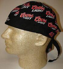 Coors Light Beer Racing Team Biker Doo Rag Headwrap Skull Cap Sweatband Capsmith
