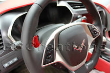 C7 Stingray Corvette Steering Wheel Paddles Red AUTOMATIC TRANS