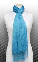 Fashion Wrap Shawl Large Cotton Silk #7 Blue Hijab Long Soft Muslim Scarf USA