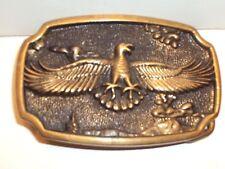 Vtg 70's Bts Eagle Belt Buckle Solid Brass Usa Excellent