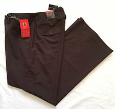 "NWT ~ LANE BRYANT SIZE 2 ~ HOUSTON RIGHT FIT BROWN DRESS PANTS 36"" x 32"""