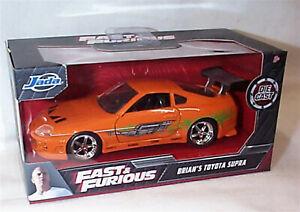 Fast & Furious Brians Orange Toyota Supra 1-32 Diecast model Jada 97345 RB
