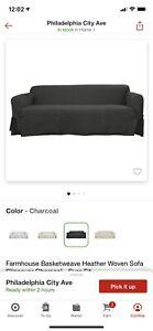 Target Farmhouse Basketweave Surefit Woven Sofa & Loveseat Covers - Set Of 2