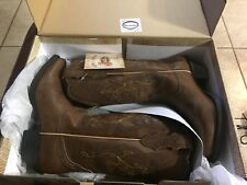 Justin Womens Brown Leather Western BOOTS Farm N Ranch Burnished 6.5 B