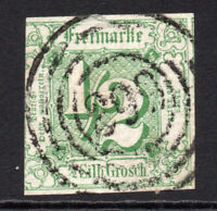Thurn & Taxis (Germany) 1/2sgr Stamp c1859-61 Used (3837)