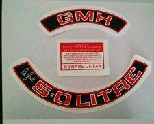 Holden 308 Engine Bay Dress Kit Sticker Red 5.0 Litre Air Filter peter brock