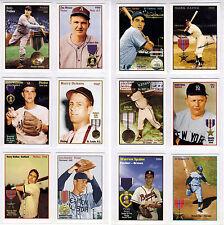 Set of 12 Baseball Goes To War Feller/Berra/Spahn/Brissie/Bauer +7 more ww2 vets