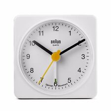 Braun Classic Travel Alarm Clock White BNC002
