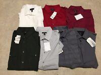 mens lot of 7 alfani button up shirt regular fit 16 16.5 32 33 large 02-20