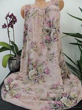 Damen Kleid Größe 46 48 50 52 54 Übergröße Kleider Maxikleid Blumen Spitze 127