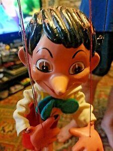 Pelham puppets Pinocchio 1962 walt disney made in England rare no hat