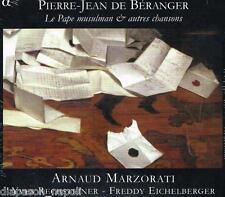 Béranger: Le Pape Musulman & Other Chansons/Arnaud Marzoratti,Yves Rechstein CD