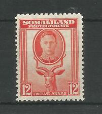SOMALILAND PRO 1942 G6TH 12a RED-ORANGE SG,112 M/MINT LOT 6302A