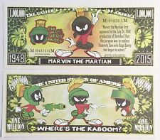 RARE: MARVIN THE MARTIAN 1,000,000 Novelty Note, Cartoons Buy 5 Get one FREE