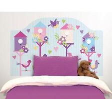 BIRDHOUSES Twin HEADBOARD 1 MURAL wall sticker decal bedroom decor birds sky