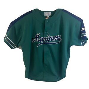 VTG SEATTLE MARINERS MLB BASEBALL JERSEY 2XL Starter Griffey Rodrigues
