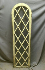 Antique Arch Top Diamond Lattice Window 18X64 Shabby Cottage Chic Vtg 398-19Lr