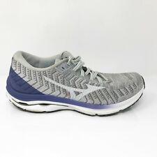 Mizuno Womens Wave Rider 24 Waveknit 411229 9R00 Grey Running Shoes Size 10.5
