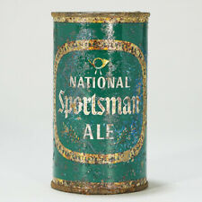National Sportsman Ale Flat Top Beer Can Detroit Michigan Horn 102-21 -RARE-