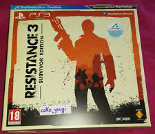 RESISTANCE 3 SURVIVOR EDITION SONY PS3 EDITION COLLETOR VERSION 100% FRANCAISE