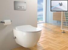 Hänge Dusch WC Spülrandlos Armatur integriert und Deckel Taharet Bidet Toilette