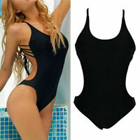 Womens Sexy Backless Monokini Beach Bathing Suit High Cut One Piece Swimsuit