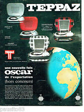 PUBLICITE ADVERTISING 076  1966  Teppaz  éléctrophone Oscar
