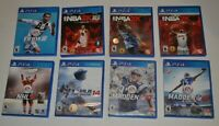 Lot Of 8 Playstation 4 Video Games Nice Selection of Sports Games