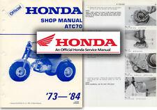 Honda ATC70 Service Workshop Repair Shop Manual ATC 70 Trike 1973 to 1984 quad